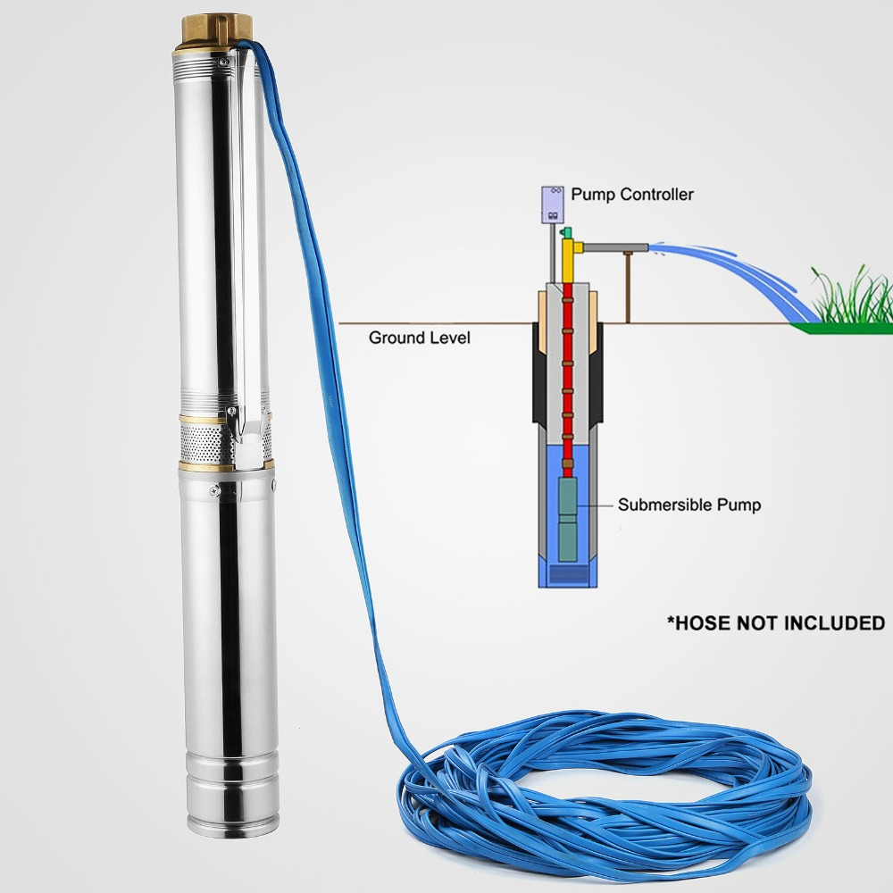 AC/DC Motor Solar Deep Well Submersible Pump Solar Water Pump in Solar Energy System